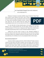 Kajian IME FTUI - Kenaikan Uang Kuliah Tunggal Universitas Indonesia