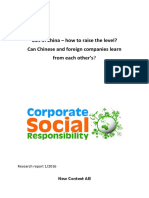CSR in Chinese and foreign companies