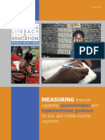 Report Measuring Financial Capability Questionnaires and Implementation Guidance for Low and Middle Income Countries