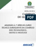 Tecnico Subsequente Em Comercio 2014