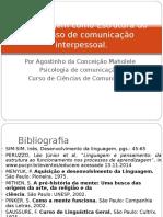 A Linguagem Como Estrutura Do Processo de Comunicação
