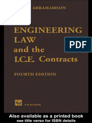 M W  Abrahamson-Engineering Law and the I C E  Contracts