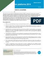 m2m Applications Platforms Report 2014