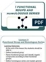 LECTURE 5 B - Functional Group n Homologous Series