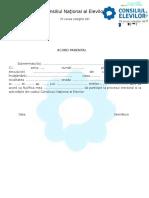 Acord Parental Alegeri Consiliul Elevilor 2014