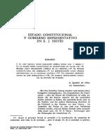 Estado constitucional y gobierno representativ en EJ Sieyès