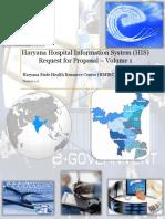 Haryana Hospital Information Sysyem Request For Proposals Volume 1 Final