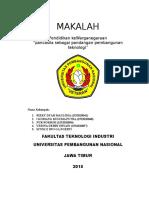 Pancasila Sebagai Pembangunan IPTEK