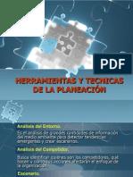 HERRAMIENTAS Y TECNICAS DE LA PLANEACIÓN