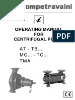 Manual  Centrifugal pump