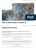Mars_ La NASA Publie Une Photo Du Labyrinthe de La Nuit