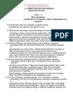 QUESTION BANK FOR COMPUTER PROGRAMING REGULATION 2013