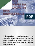 IMPACTO AMBIENTAL DA INSTALAÇÃO DE UMA HIDRELÉTRICAS.ppsx