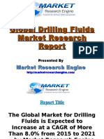 The Global Market for Drilling Fluids is Expected to Increase at a CAGR of More Than 8.0% from 2015 to 2021 – by Market Research Engine