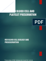 Red Blood Cell and Platelet Preservation