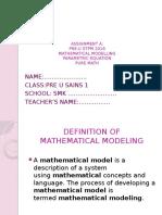 Assignment a Math `