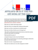 Is Geo Tv a Cnn Affiliate of CIA