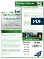 2008 Costa Rica Program Flyer
