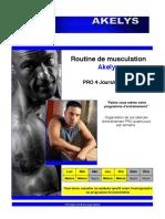 03. Faire sont programme personnel - Routine de musculation 4 jours par semaine - Pro.pdf