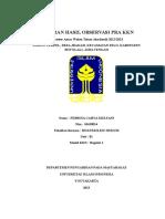 Laporan Hasil Observasi Pra Kkn