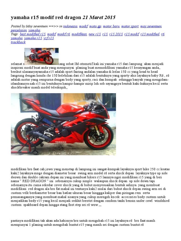 Yamaha r15 Modif Red