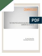 Factores Psicologicos en La Conducta Criminal Dr Cureces Ríos