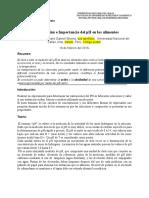 Determinación e Importancia Del PH en Los Alimentos Labo # 01