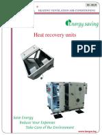 Heat Recovery Units Range