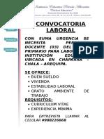 CONVOCATORIA LABORAL