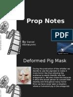 Prop Notes.