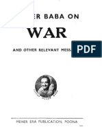 Meher Baba on War