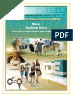 Manual Equidad de Género Educacion Para La Niñez