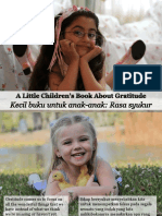 Kecil Buku Untuk Anak-Anak Rasa Syukur - A Little Children's Book About Gratitude