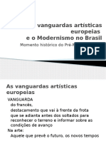 As Vanguardas Artísticas Europeias e o Modernismo No Brasil