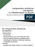 As Vanguardas Artísticas Europeias e o Modernismo No Brasil