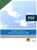 EL RETO DE LA POLÍTICA MONETARIA