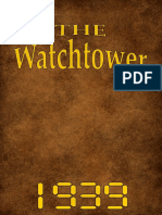 The Watch Tower - 1939 issues
