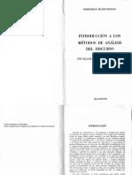 TEMA 1 Maingueneau Introducción