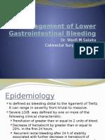 Management of Lower Gastrointestinal Bleeding- Light BG