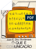 O que é Comunicação - Juan Bordenave