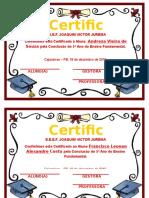 Certificado - 5º Ano B