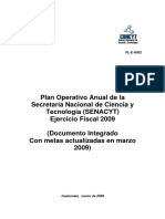 Plan Operativo Cenacyt 2009