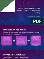 Anexo de Operaciones Con Partes Relacionadas (OPR)