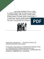 Prevencion Efectiva Del Consumo SPA en Chicos y Chicas