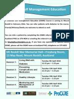DSME Schedule - Mt Roskill