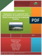 ARTICULO CIENTÍFICO Diagnóstico de La Ciudad Del Tena Como Destino de Turismo de Aventura Desde La Perspectiva de La Demanda Turística.