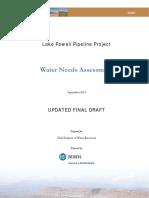 FERC Application - Water Needs Assessment