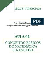 Aula 01 Matemática Financeira