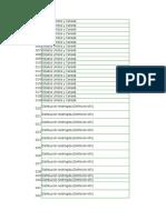 Lista Codigos de barras