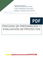 PROCESO DE PREPARACION DE PROYECTOS